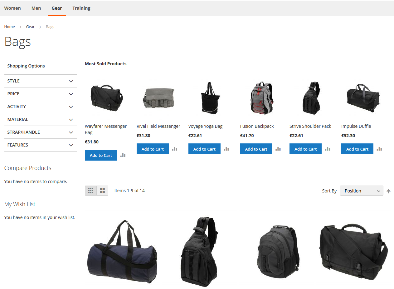 Magento2 ProductMostSold